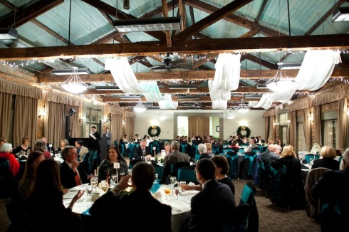 A Christmas Wedding Reception in The Foundry Ballroom