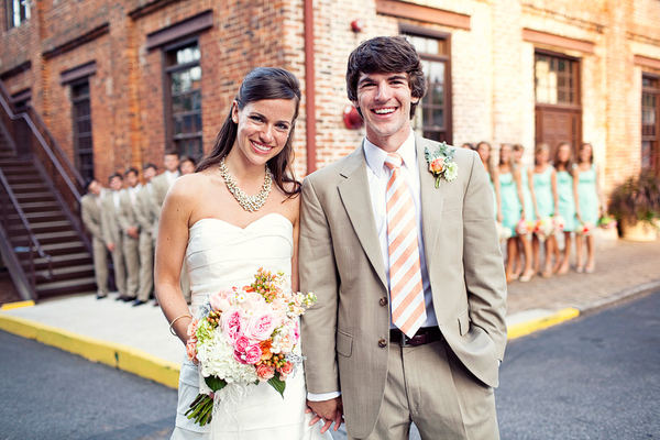 dresses and centerpeices this wedding was the epitome of southern chic